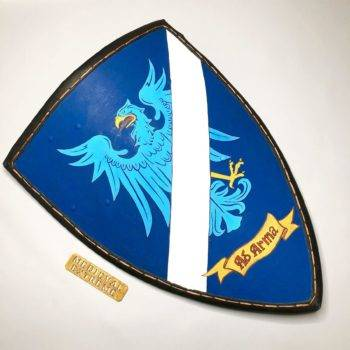 Triangle shield with custom logo