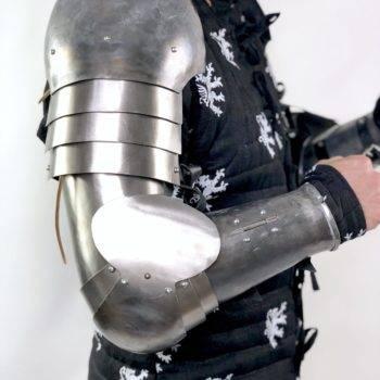 Titanium full arms set for medieval combat