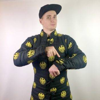 Padded gambeson with print