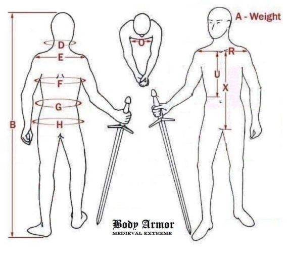 body armor measurements