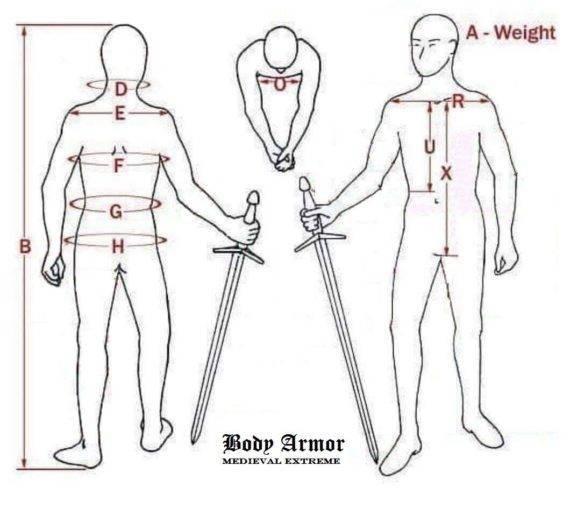 body armor measurements