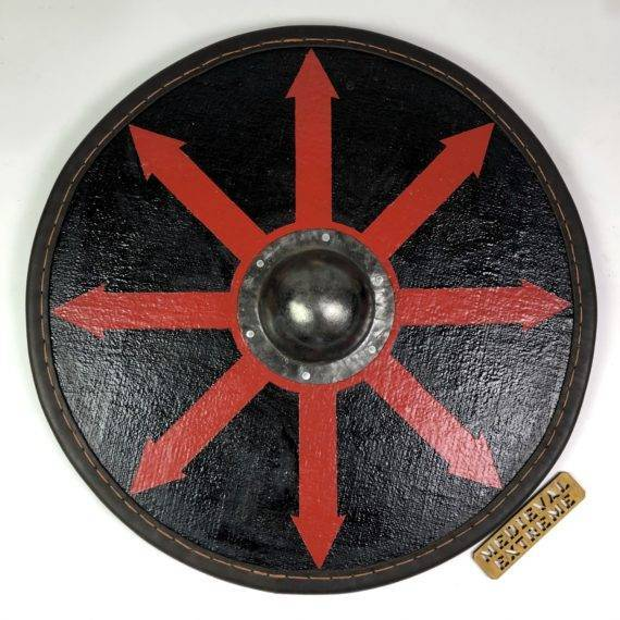 Round shield with central grip