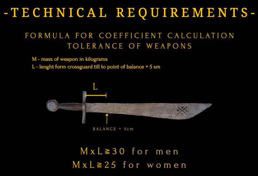 WMFC sword balance rules calcutarion