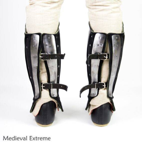 Anatomical Splinted Greaves back