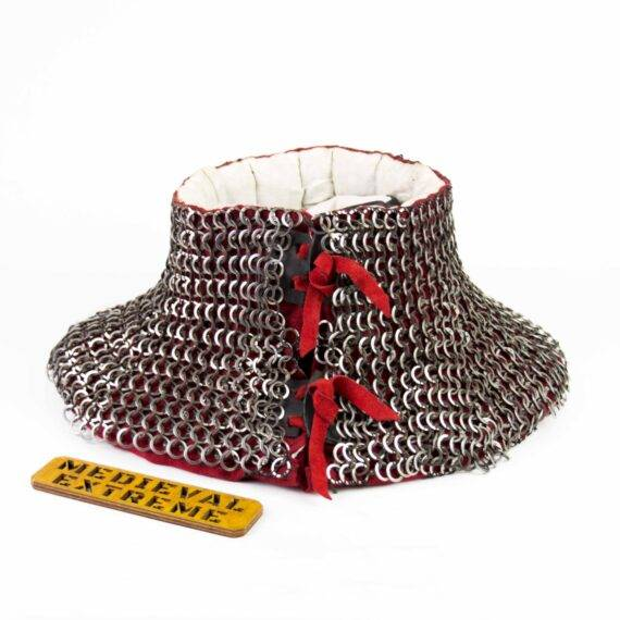 Chainmail collar for armored combat