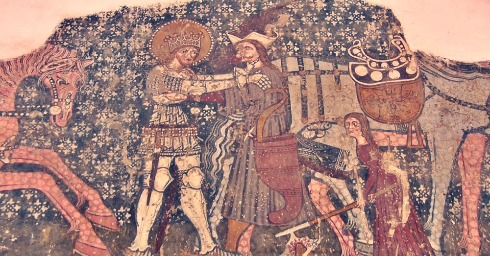 Figure 18 - Fresco from Unitarian Church, Dârjiu, Romania (c.a. 1400-1425)