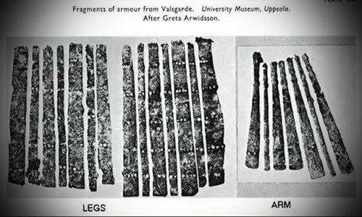 Figure 2 -  Valsgärde splint armor examples.