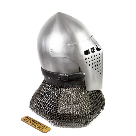 Bascinet helmet of Alexander side