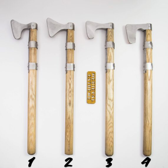 One handed axe for armored combat