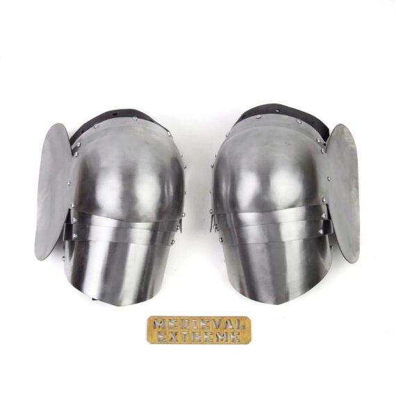 Hardened Steel segment poleyns pair