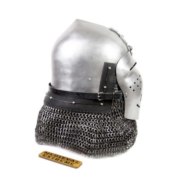 Italian Bascinet Helmet side
