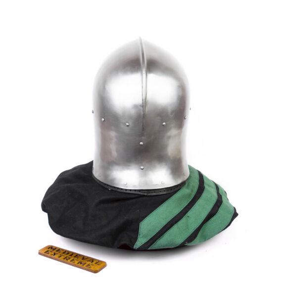 "Italian Barbute ""Y"" shaped visor type 2 back"