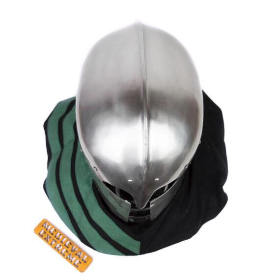 "Italian Barbute ""Y"" shaped visor type 2 top"
