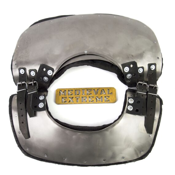 Gorget with padding neck protection for armored combat top