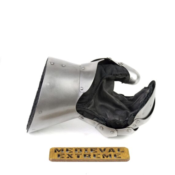 Sport optimised gauntlets with leather palm palm