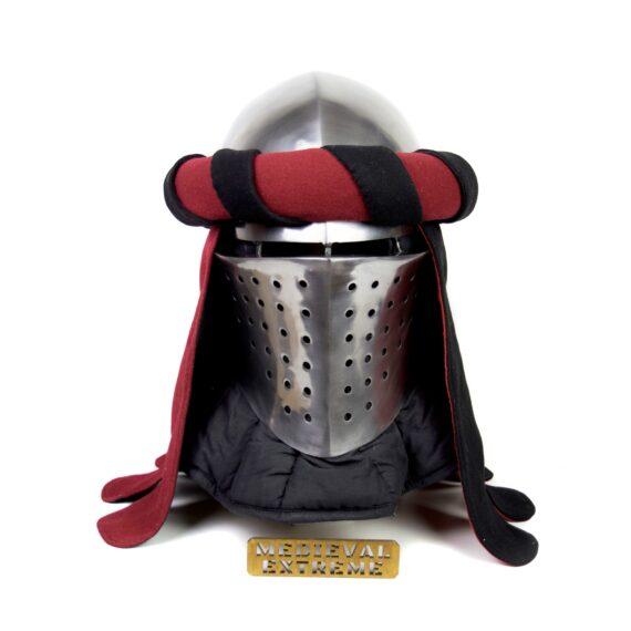Torse with mantling for medieval helmet