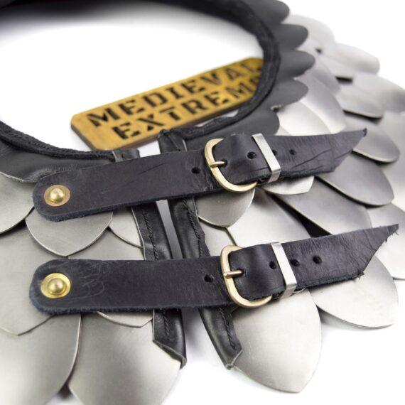 Titanium scales neck protection buckles