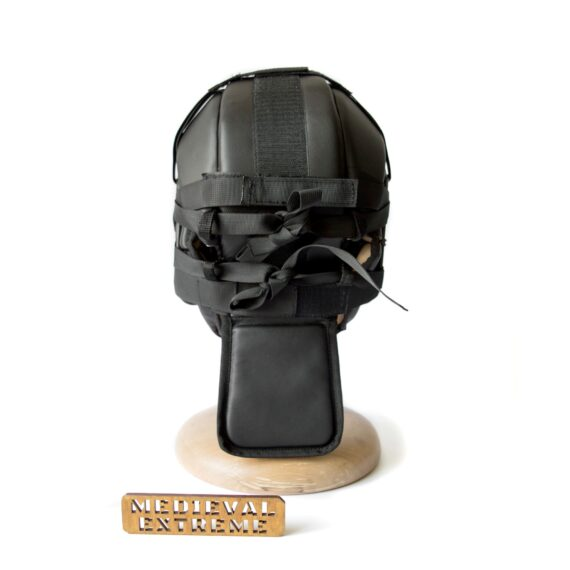 Soft armor training helmet back
