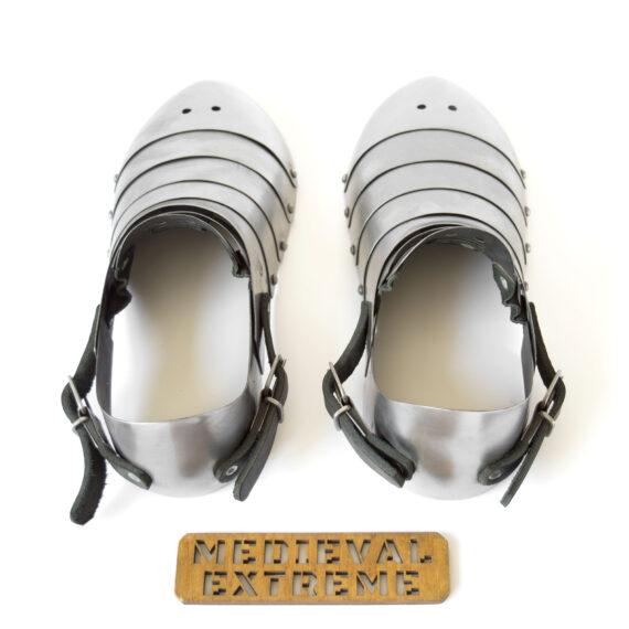 Hardened steel sabatons with heel top