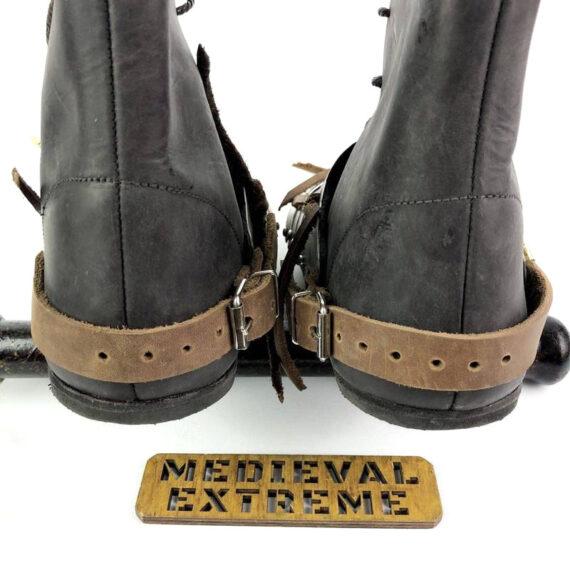 Titanium 15th century sabatons + battle boots bundle back