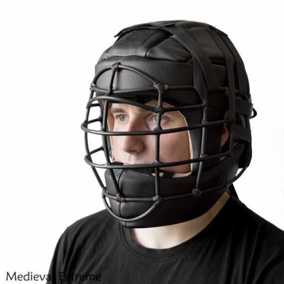 Soft armor training helmet on fighter
