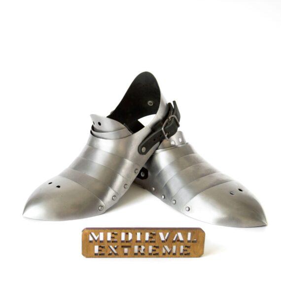 Hardened steel sabatons with heel pair
