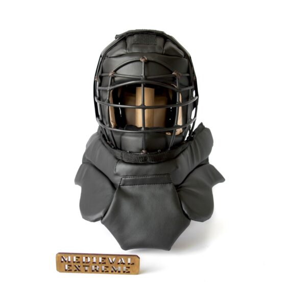 Soft armor training helmet with neck protection front