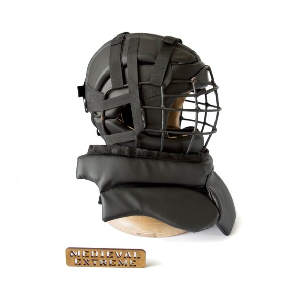 Soft armor training helmet with neck protection side
