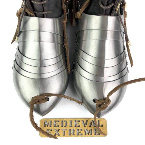 Titanium 15th century sabatons + battle boots bundle top