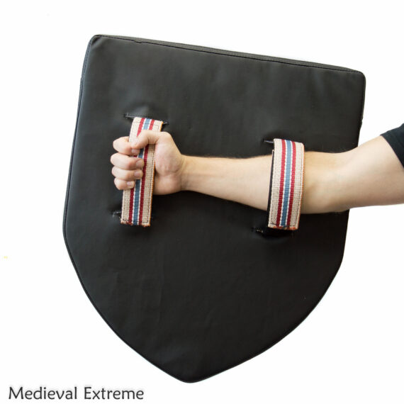 Soft armor heather shield for armored combat handles