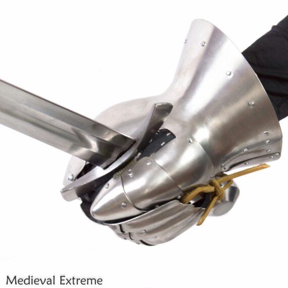 Titanium gauntlet for profights with sword