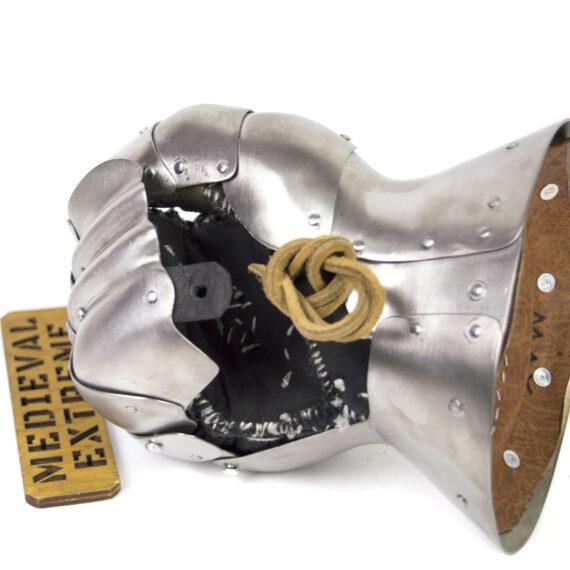 Titanium gauntlet for profights inside