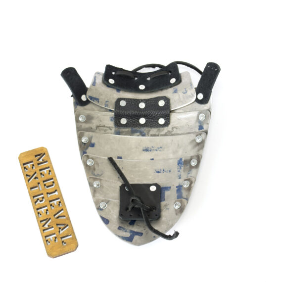 Titanium neck protection for armored combat back